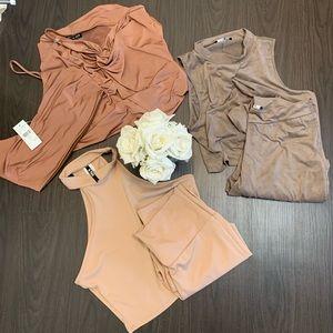 3/$40 fashion nova 2-piece sets ❤️ neutrals
